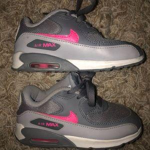 Pink & Gray Nike Air Max Size 9C